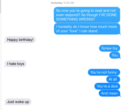 Birthdays & Narcissists